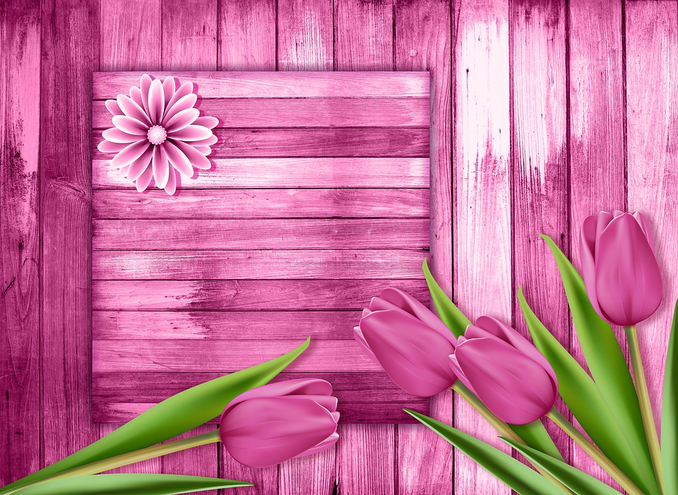 Wood, Color, Tulips, Tulip, Background, Flowers, Flower
