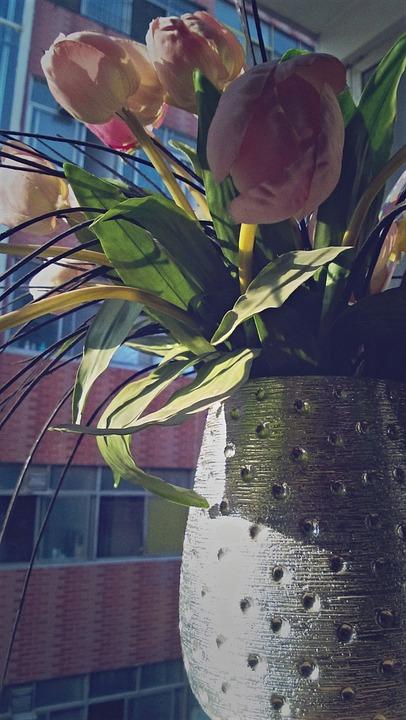 Vase, The Morning Sun, Flower, Artificial Flower