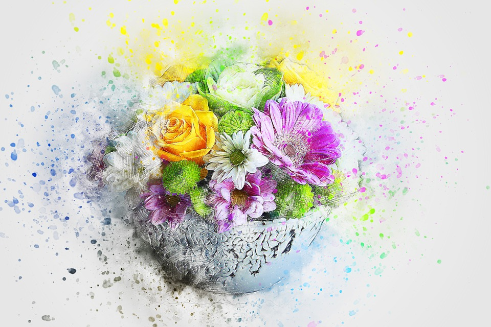 Free Photo Flowers Abstract Nature Art Watercolor Vase Max Pixel