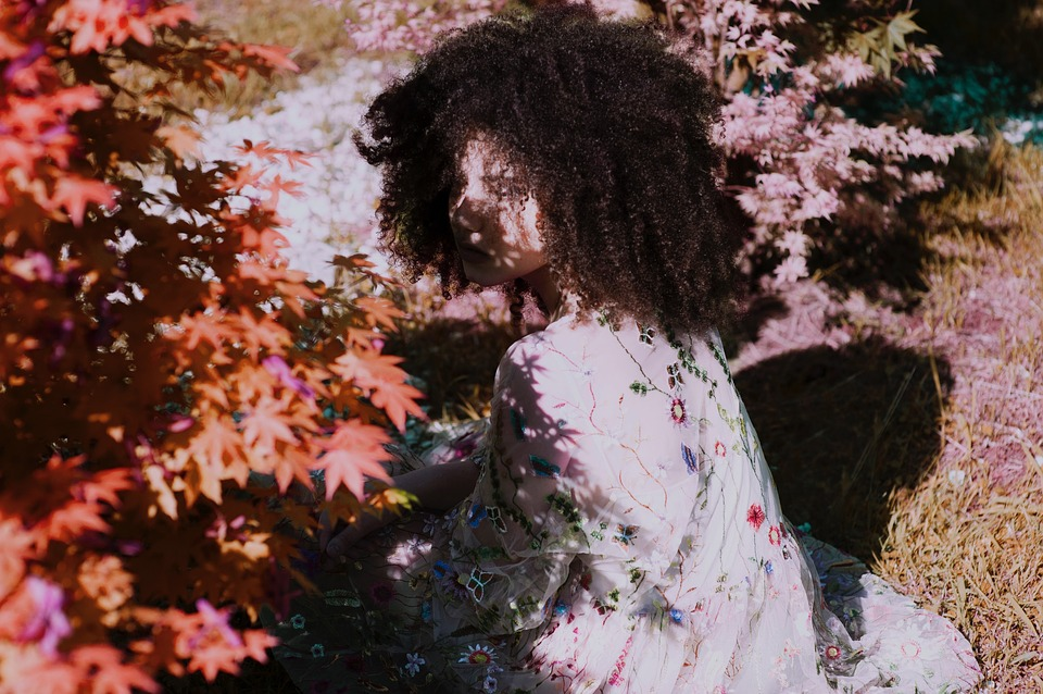 Autumn, Nature, Plants, Leaves, Flowers, People, Girl