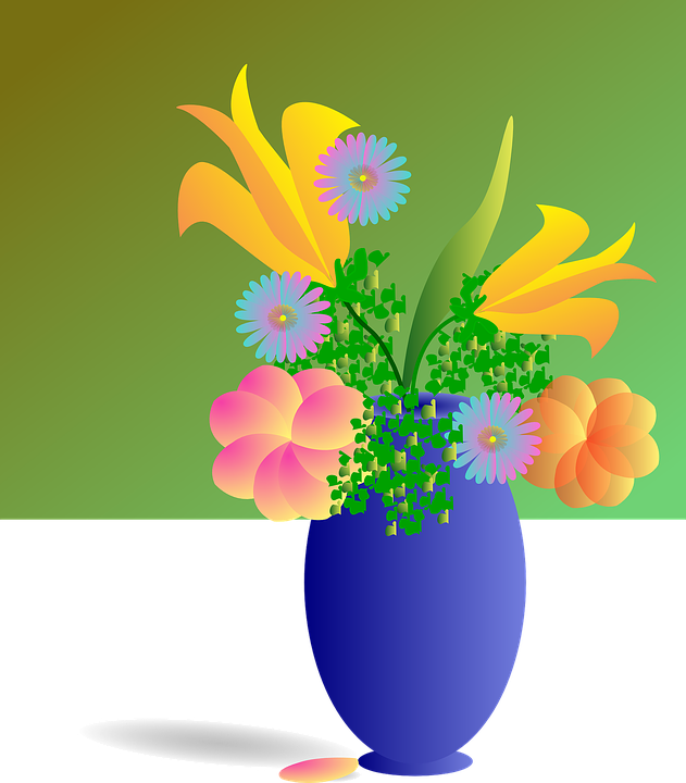Bouquet, Vase, Flowers, Colorful, Beautiful