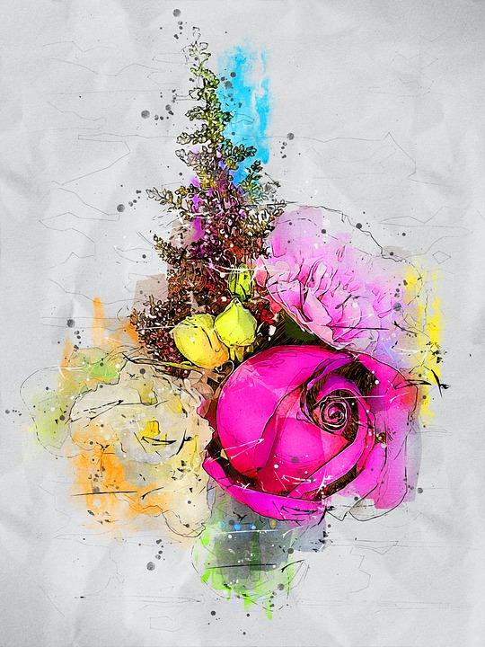 Flowers, Rose, Bouquet, Bloom, Plant