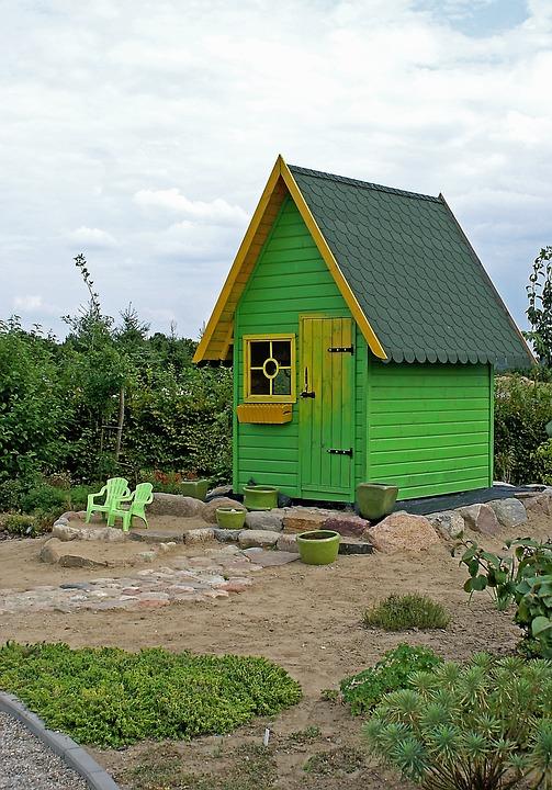 Bower, Garden, Cottage, Vegetation, Shrubs, Flowers