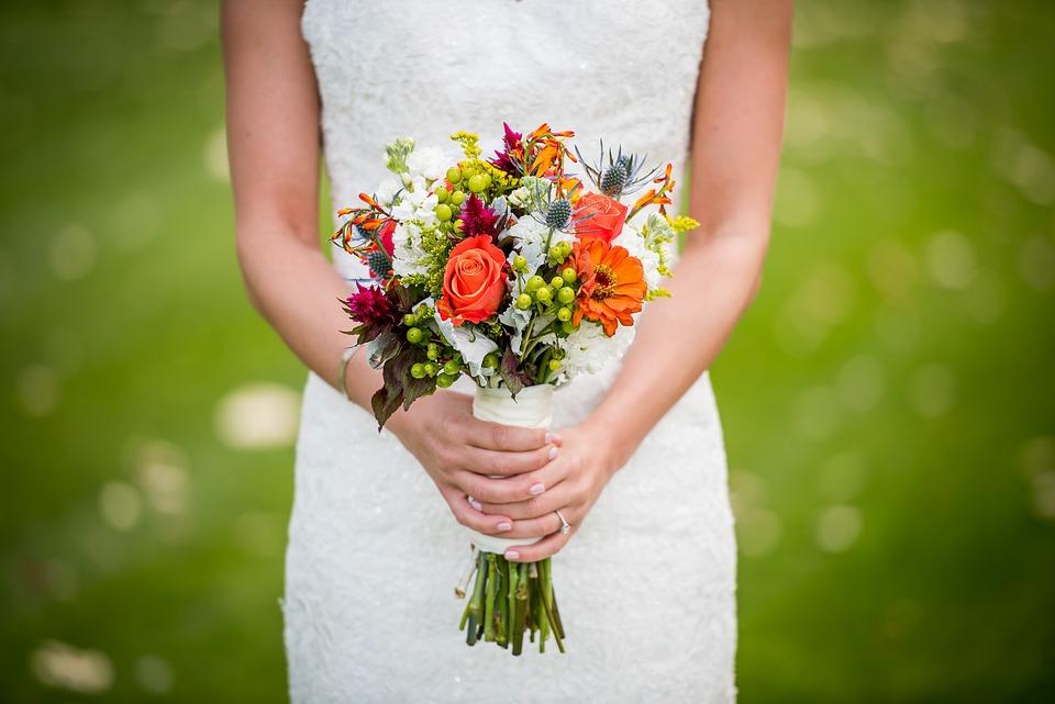 Bouquet, Bride, Flowers, Bridal Bouquet