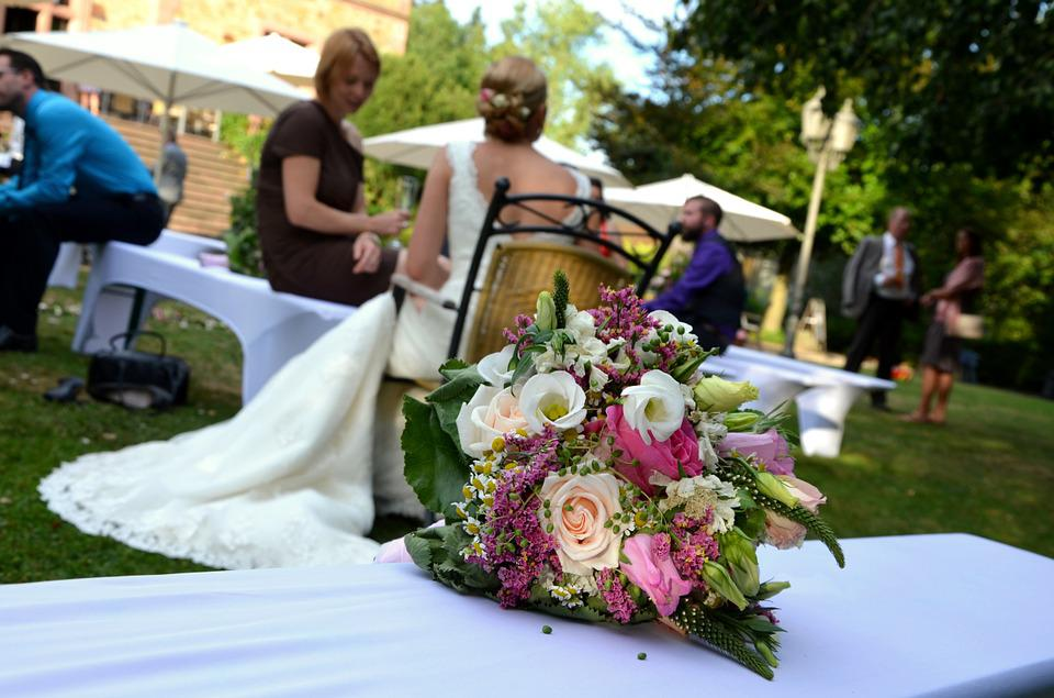 Bridal Bouquet, Wedding, Bride, Marry, Flowers