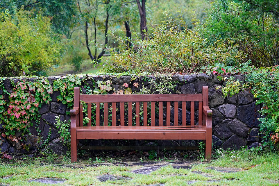Bench, Fence, Flower, Country, Flowers, Deco
