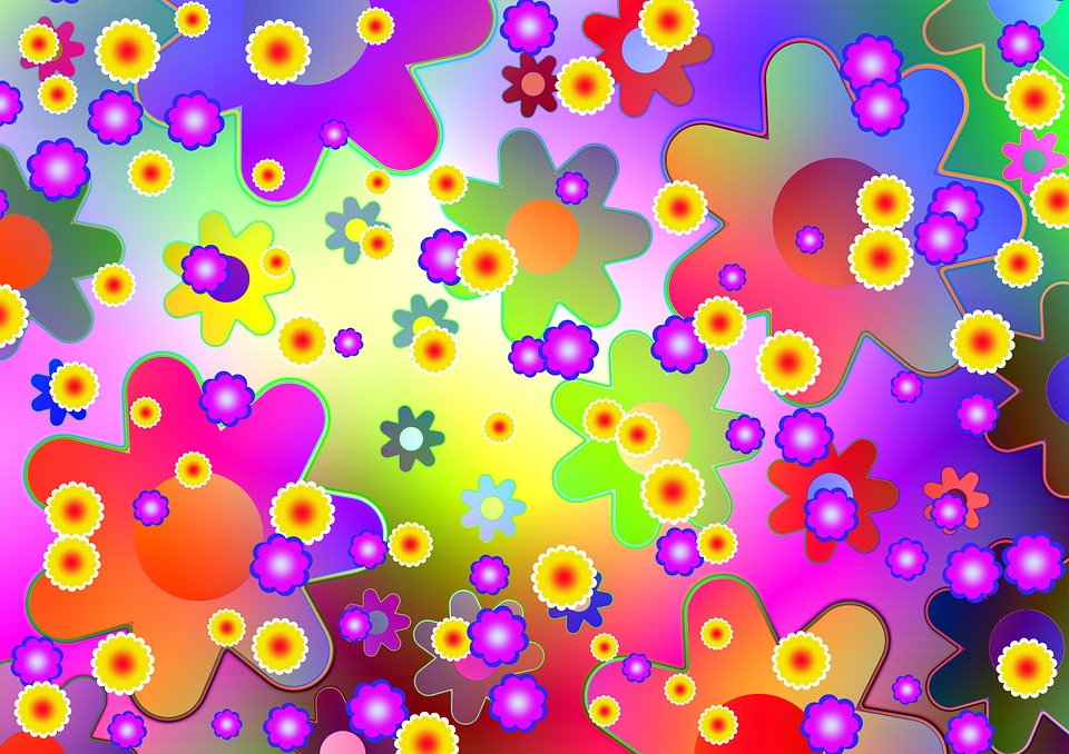 Flower Power, Flowers, Ornament, Decoration