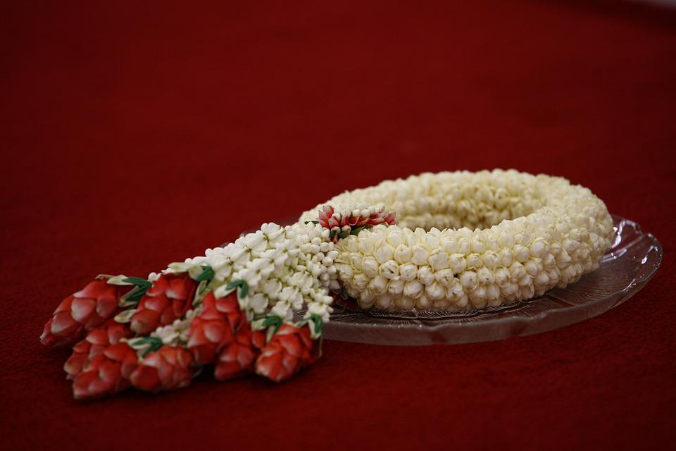 Thailand, Flowers, Decoration, Ornament, Red