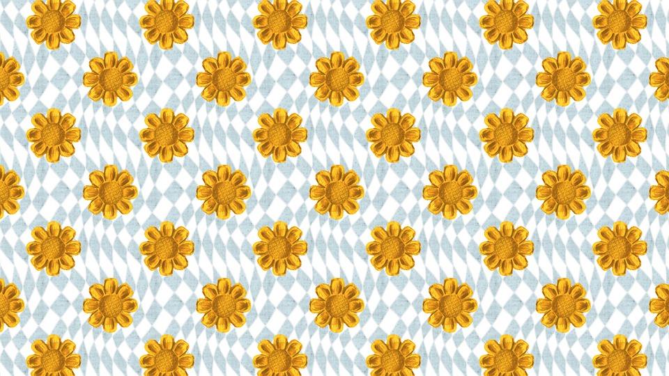 Flowers, Digital Paper, Background, Seamless, Geometric