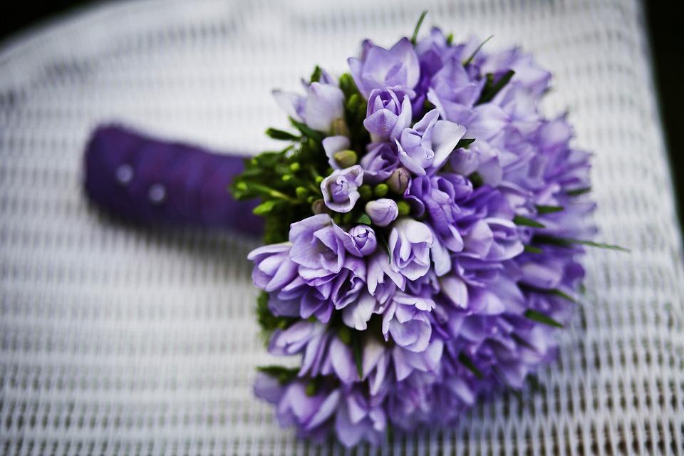 Bouquet, Flowers, Flower Arrangement, Purple Flowers