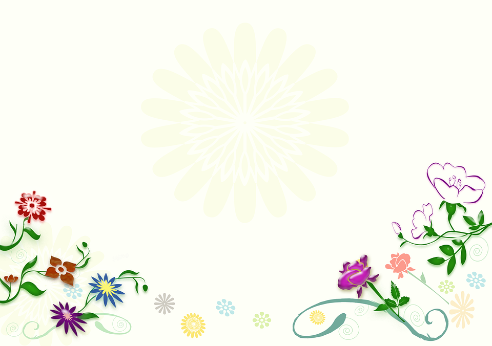 Flowers, Background, Illustration, Graphic