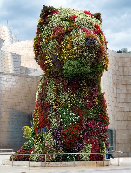 Dog, Jeff Koons, Guggenheim, Museum, Flowers