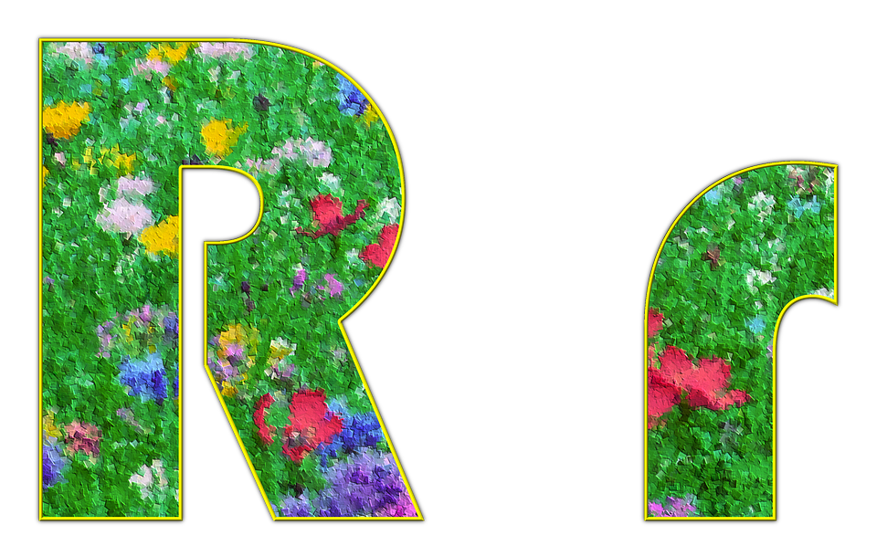 R, Letter, Alphabet, Font, Spring, Meadow, Flowers