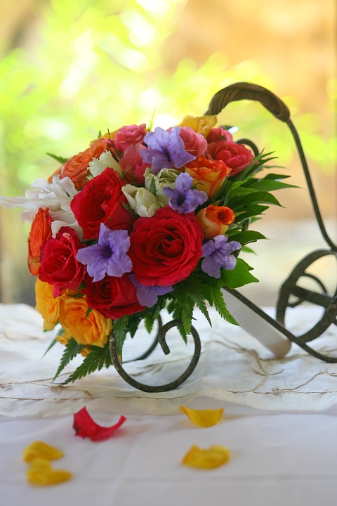 Bouquet, Flowers, Colorful, Marriage, Wedding, Warm