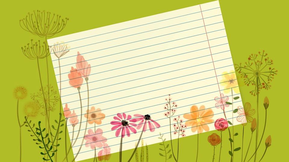 Flowers, Floral, Bloom, Spring, Note, Memo, Message