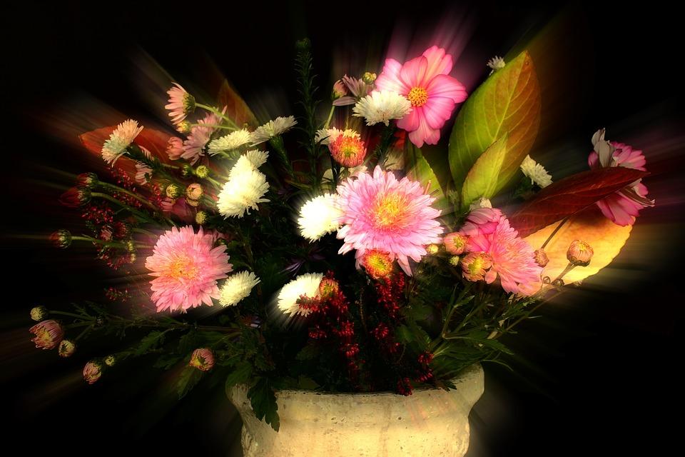 Autumn, Bouquet, Flowers, Decoration, Plant, Pink