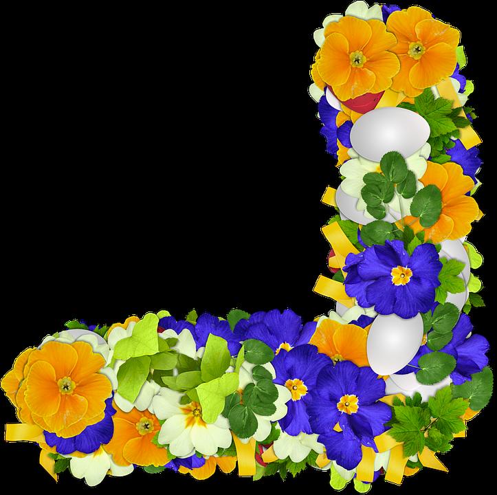 Flowers, Primroses, Png, Corner, Egg, Easter, Colors