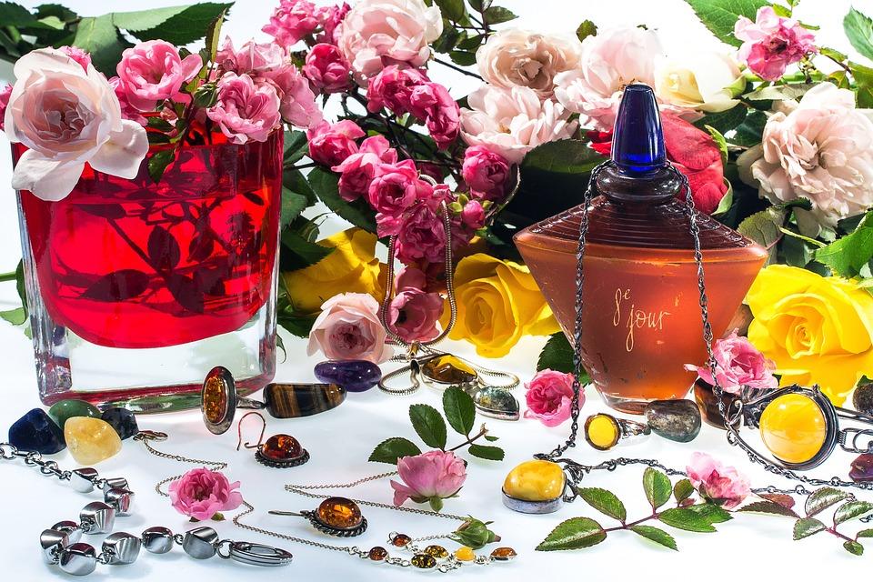Still Life, Jewellery, Flowers, Roses Perfume, Deco