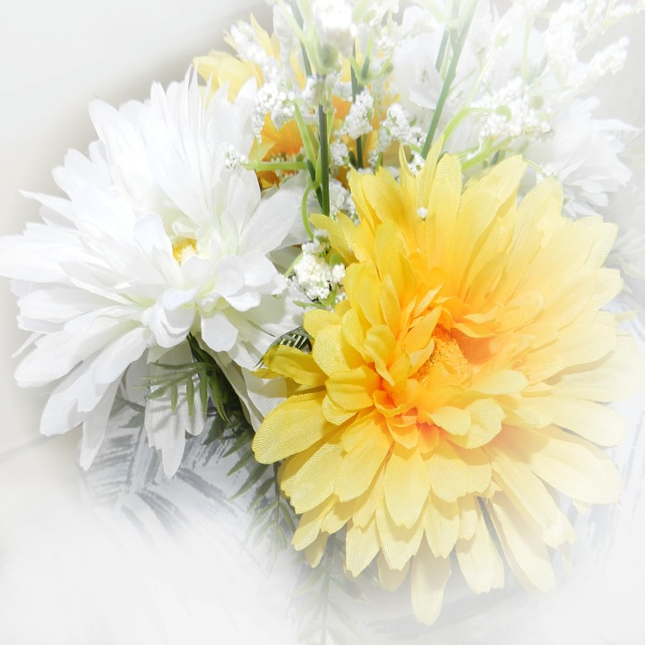 Paper, Background, Scrapbooking, Flowers, Yellow, White