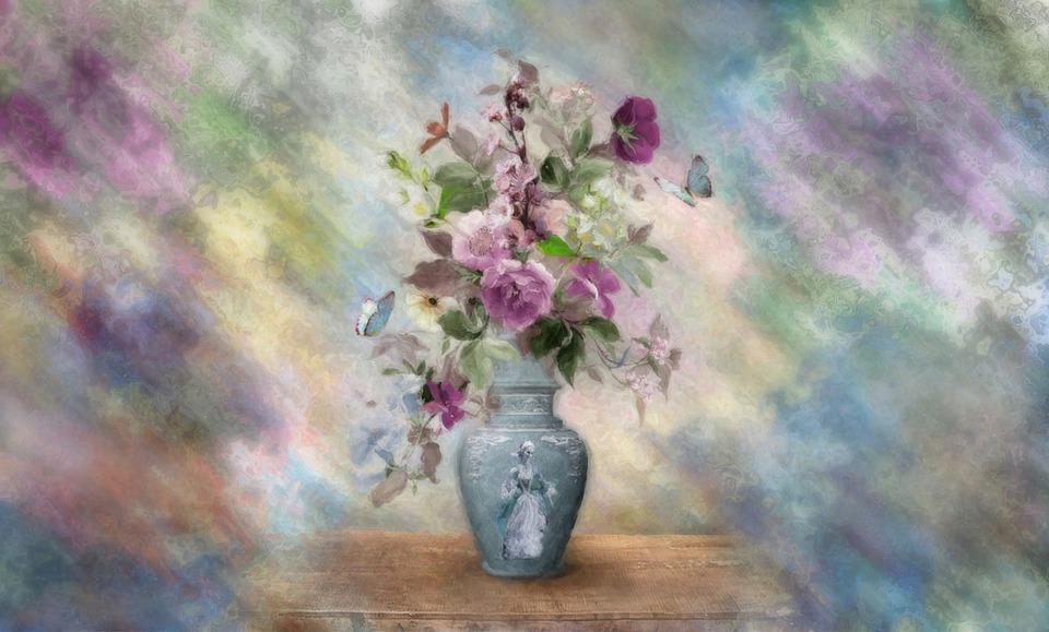 Flowers, Vase, Still Life, Painting, Beautiful
