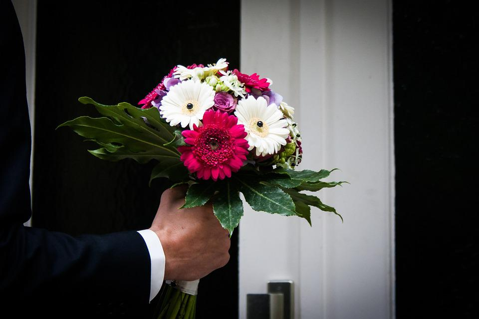 Flowers, Bouquet, Ring The Bell, Surprise, Wedding