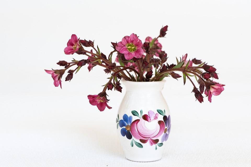 Flowers, Pink, Pink Flowers, Vase, Flower Vase, Deco