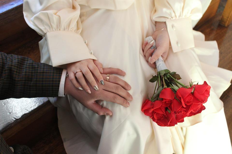 White, Ring, Flowers, Wedding Ceremony, Jewelry