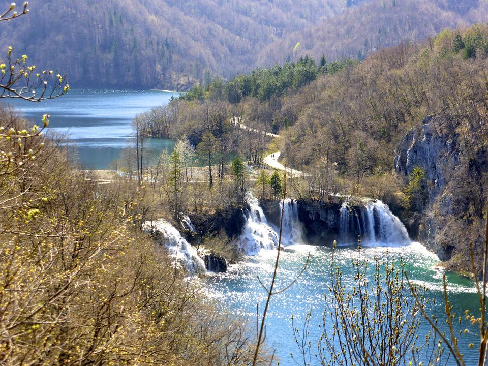 Cascades, Plitvice, Croatia, Waterfall, Flowing