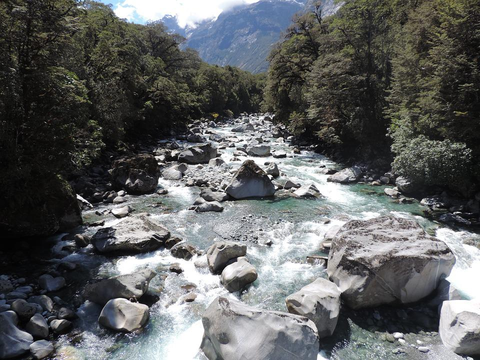 Water, River, Landscape, Fluent, Nature, New Zealand