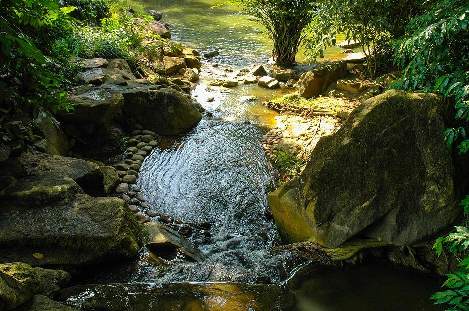 Water Running, Fluent, River Landscape