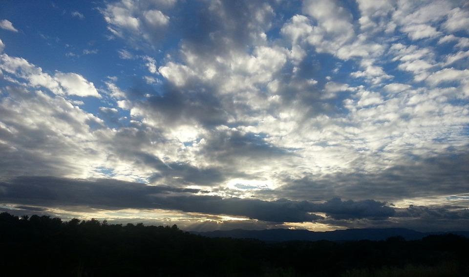 Sky, Clouds, Cloudscape, Air, Blue, Fluffy, Horizon