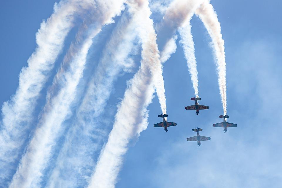 Aircraft, Flugshow, Show, Czech Aerobatic Team