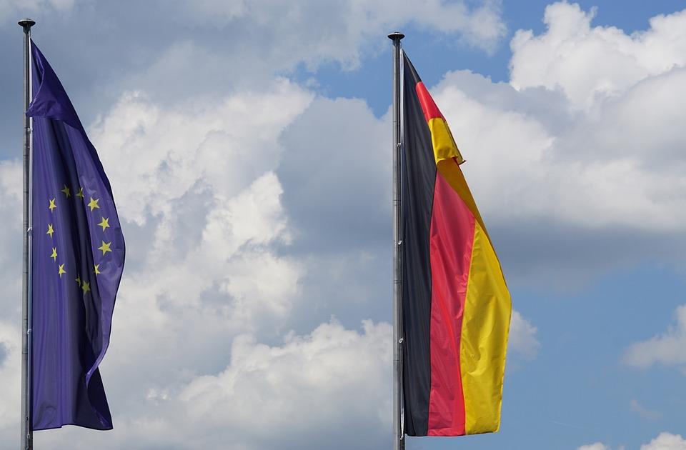 Flag, Germany, European Union, Blow, Flutter