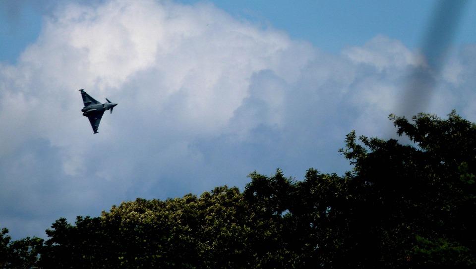 Typhoon, Plane, Jet, Air, Airplane, Sky, Fly, Flight