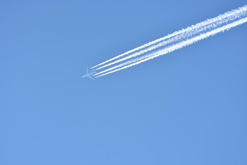 Aircraft, Contrail, Sky, Fly, Flight, Blue, Flyer