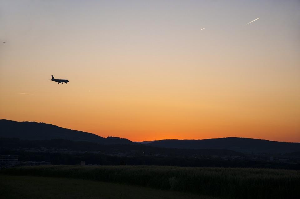 Twilight, Aircraft, Country Flight, Landing, Fly