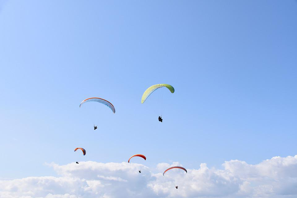Paragliders, Fly, Aircraft, Nature, Wind, Sport