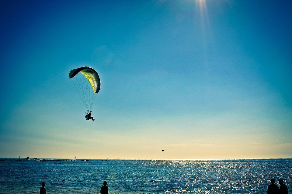 Paragliding, Fly, Parachute