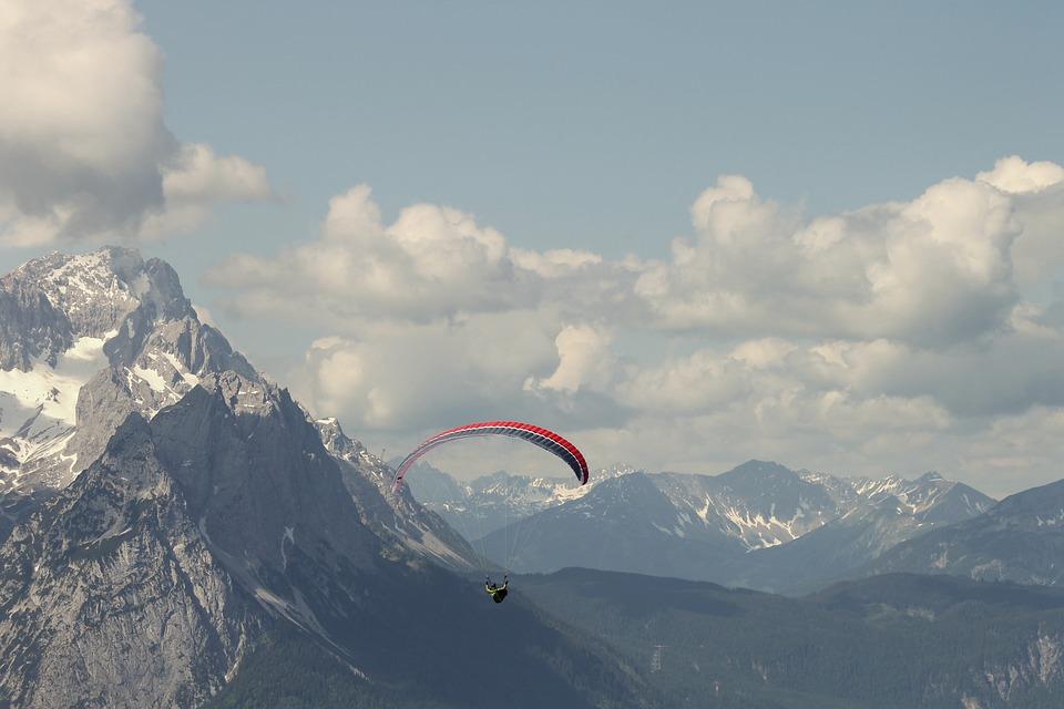 Paraglider, Alpine, Zugspitze, Paragliding, Fly