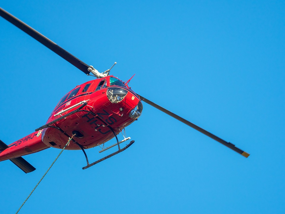 Fire Fighting Helicopter, Chopper, Fly, Sky, Rescue