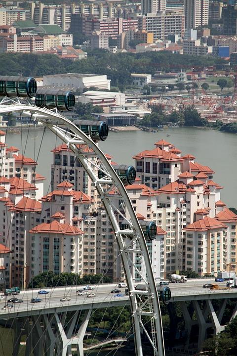 Singapore, Flyer, Architecture, Bay, Modern, Tourism