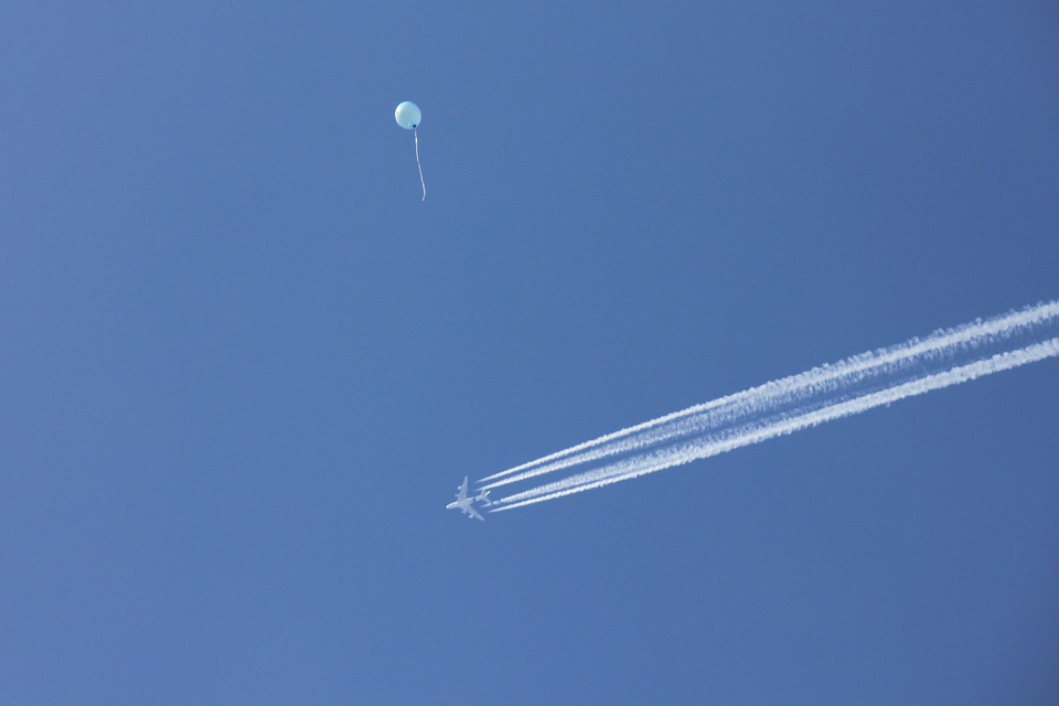 Sky, Blue, Aircraft, Flyer, Balloon