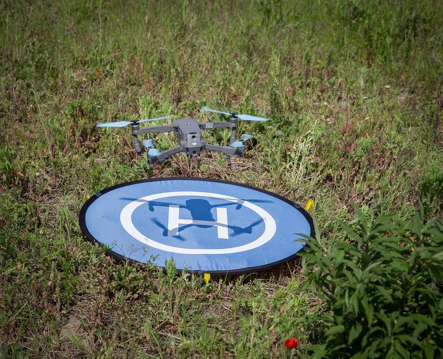 Landing, Landing Site, Quadrocopter, Aircraft, Flying