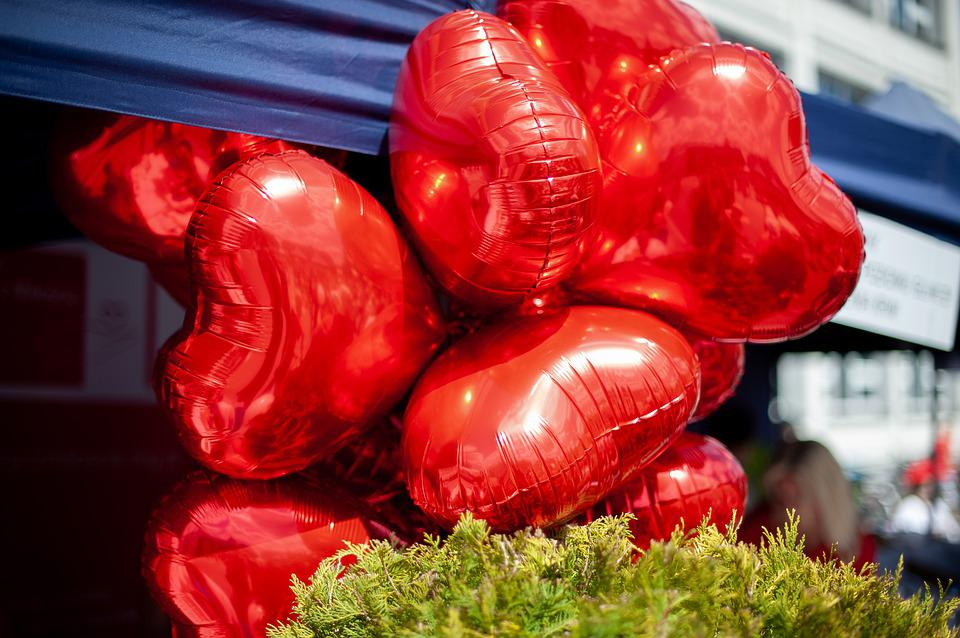 Balloons, Hearts, Balloon, Heart, Love, Red, Flying