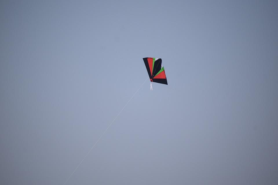 Kite, Sky, Freedom, Flying, Fun, Wind, Blue, Child, Air