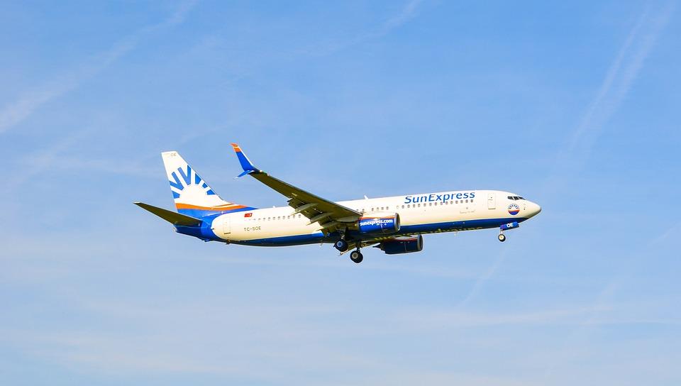 Aircraft, Jet, Sun Express, Landing, Flying, Boeing