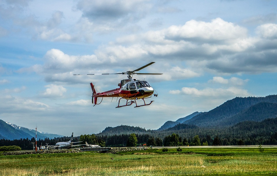 Helicopter, Flying, Alaska, Mountains, Flight