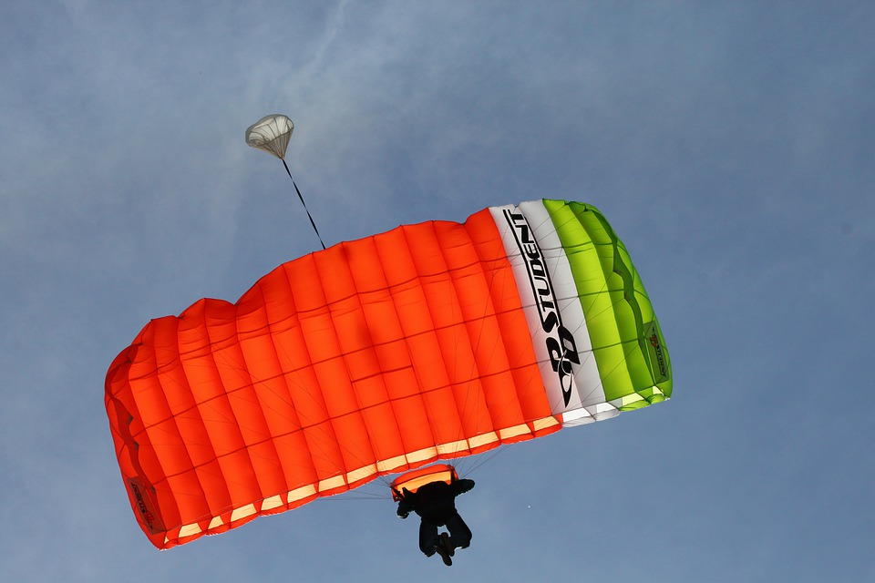 Parachute, Flying, Paragliding