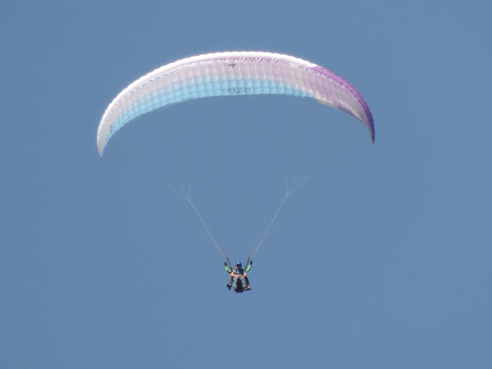 Paragliding, Flying, Sky, Parachute, Sport