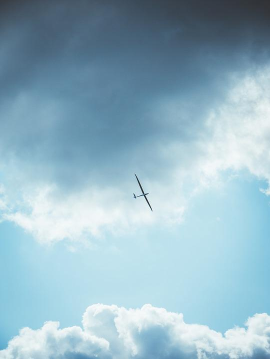 Glider, Aircraft, Sky, Clouds, Flying, Glider Pilot
